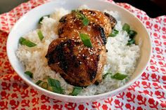 Creole Contessa: Grilled Coconut Sticky Chicken with Sweet Rice