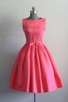 Vintage 50s Dress / 1950s Cotton Dress / by TuesdayRoseVintage