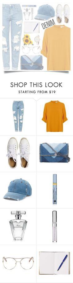 """jot + scribble"" by gwomack ❤ liked on Polyvore featuring Topshop, Matt Bernson, STELLA McCARTNEY, Mudd, Estée Lauder, Avon, Chantecaille, Chloé and Tom Dixon"