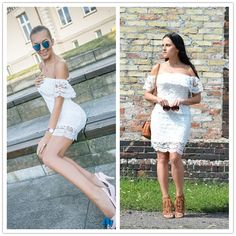 Aliexpress.com : Buy COLROVIE Summer Style Sexy Women Mini Dresses White Off the Shoulder Short Sleeve  Strapless Lace Ruffle Bodycon Dress C1202 from Reliable dress up games wedding dress suppliers on COLROVIE Official Store