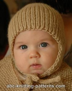 Ribbed Baby Earflap Hat FREE knitting pattern by Elaine Phillips ... 6072aa28dac