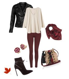 """""""Autumn Leaves"""" by deborah-strozier ❤ liked on Polyvore featuring VIPARO, Yves Saint Laurent, Tamara Mellon, Topshop, EAST, Effy Jewelry and Halogen"""