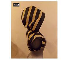 ELEGANCE Black and Antique Gold Stripe Hoodie Bolero Shrug by LoriAnn Costume Designs - Size:  S M L XL 2X