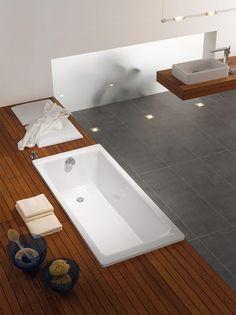 Vasca da bagno rettangolare in acciaio PURO by Kaldewei Italia