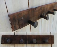 Simple Rustic Coat Rack 40 Beautiful and Eco-Friendly Reclaimed Wood Projects That Will Transform Your Home Diy Coat Rack, Rustic Coat Rack, Reclaimed Wood Projects, Diy Pallet Projects, 2x2 Wood, Wood Wood, Wood Projects For Beginners, Woodworking Projects Plans, Woodworking Equipment