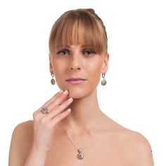 The Zerbap Elika Jewelry Set with Zircon Sapphire by Rosestyle, $54.50