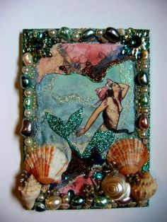 Art Nouveau Vintage Mermaid original by fairydustedmermaids,