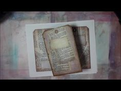 Tag Art Journal Printable Coptic stitch - YouTube