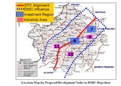 Location Map for Proposed Development Nodes in #DMICRajasthan DMIC : Delhi Mumbai Industrial Corridor. It is a fundamental and important part for various sectors of economy and present efficient integration between industry and infrastructure leading to overall economic and social development. #SNCDevelopers #RealEstateDevelopers