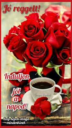 Coffee and flowers Beautiful Rose Flowers, Amazing Flowers, Love Flowers, Good Morning Coffee, Good Morning Friends, Sweet Coffee, I Love Coffee, Good Morning Images Flowers, Coffee Flower
