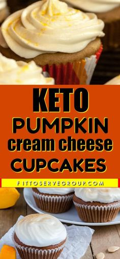 These Keto Pumpkin Cream Cheese are a delicious cross between a keto pumpkin bread and a keto pumpkin cake. They are hearty enough to even enjoy for breakfast. Don't miss out on making these low carb pumpkin cupcakes while pumpkin season is in full swing. Keto Cupcakes, Cream Cheese Cupcakes, Keto Cake, Keto Cheesecake, Pumpkin Cupcakes, Pumpkin Dessert, Almond Recipes, Keto Recipes, Dessert Recipes