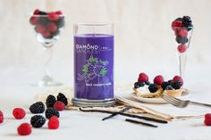 Black Raspberry Vanilla Ring Candle - Diamond Candles - Home Fragrance Made Fun and Hassle Free