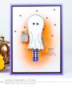 Happy Halloween Card by Ashley Cannon Newell for Papertrey Ink (August 2016)