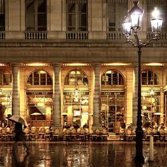 Café Le Nemours is one of the most famous cafés in Paris.