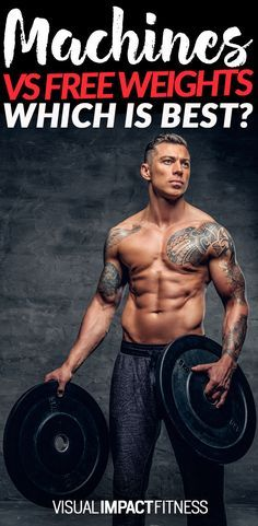 Beginners are comfortable with machines. Intermediates believe that real lifters only use free weights. Experienced, wise and good looking lifters use both.