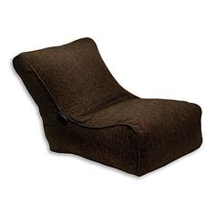Chocolate 'Evolution' fabric lounger