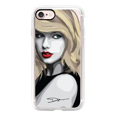 Taylor Swift - iPhone 7 Case, iPhone 7 Plus Case, iPhone 7 Cover,... (610 ARS) ❤ liked on Polyvore featuring accessories, tech accessories, iphone case, iphone hard case, iphone cases, apple iphone cases and iphone cover case