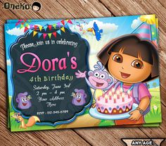 Dora the explorer diego candy land birthday invitations dora dora the explorer diego candy land birthday invitations dora pinterest candy land birthday candy land and birthdays filmwisefo