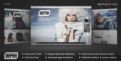 Download and review of Depth — Full-Screen AJAX Portfolio WordPress Theme, one of the best Themeforest Creatives themes