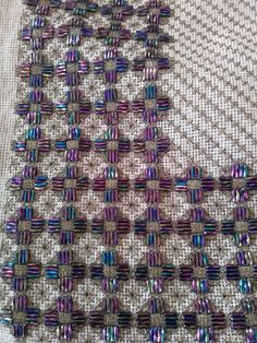 Embroidery On Clothes, Beaded Embroidery, Cross Stitch Embroidery, Embroidery Designs, Needlepoint Stitches, Needlework, Blackwork, Embellishments, Diy And Crafts