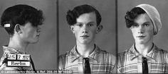 Police mugshots of Berlin prostitute Johann Scheff, arrested in July 1932. Youths dressed in women's clothing who successfully passed for women, descended on department stores en masse stealing large quantities of merchandise.
