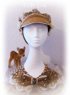 faun hat and collar. http://www.bathinasblog.blogspot.com/2012/01/reh-mutze-deery-fur-fawn-boyscap.html