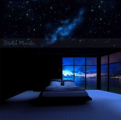 Orion | Glow in the Dark Star Ceiling Canopy | Starlight Bedroom Decor | Optional Realistic Star Stickers by StellaMurals on Etsy https://www.etsy.com/listing/267595883/orion-glow-in-the-dark-star-ceiling