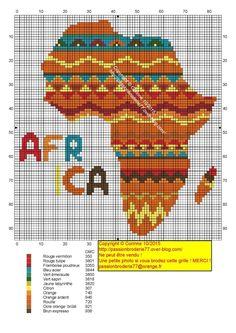 Africa sunset x-stitch