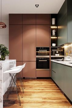 Home Interior Cocina .Home Interior Cocina Luxury Kitchen Design, Kitchen Room Design, Luxury Kitchens, Home Decor Kitchen, Interior Design Kitchen, Home Kitchens, Kitchen Ideas, Kitchen Designs, Galley Kitchens