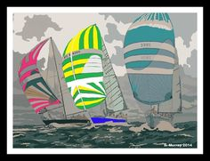 Racing Sailing Boats Photograph by Allison Murray Canvas Art, Canvas Prints, Canvas Material, Surfboard, Boats, Sailing, Photograph, Color, Candle