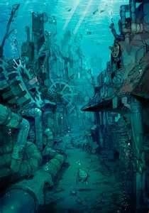 Image detail for -anime underwater world turtle city