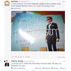 Patrick stump is the best guy on earth