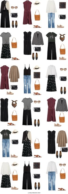Packing Light: 17 days in Spain and Portugal in September. What to Wear: Outfit … Packing Light: 17 days in Spain and Portugal in September. What to Wear: Outfit Options. Summer/ Summer to Fall Travel Capsule Wardrobe 2018 Europe Travel Outfits, Travel Outfit Summer, Europe Fashion, Summer Outfits, Travel Wardrobe, Travel Europe, Summer Travel, Travel Fashion, Travel Packing