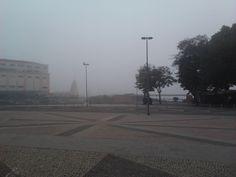 Praça XV com névoa