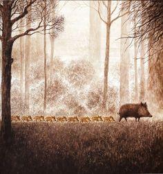 liquidnight:    Annegert Fuchshuber  Illustration from Zwei und mehr  [via The Animalarium]