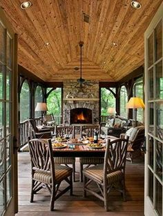 Great porch for cabin