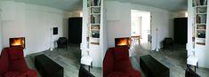 Des cloisons mobiles, une cheminée 3 faces pour transformer tout un niveau de petits pièces en un espace familial et modulable... Decoration, Mobiles, Oversized Mirror, Furniture, Home Decor, Movable Partition, Small Rooms, Outer Space, Everything