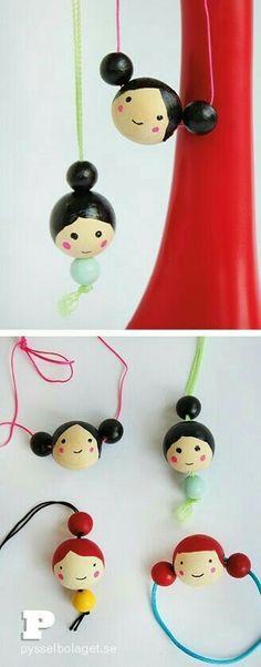 Wooden ball dolls