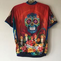 Pactimo-Arlene-Pedersen-Sugar-Skull-Cycling-Jersey-Day-Of-The-Dead