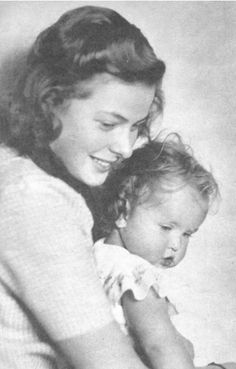 Ingrid Bergman with daughter Pia Lindstrom