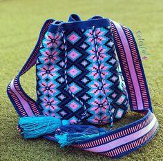 Tapestry Bag, Tapestry Crochet, Knit Crochet, Unique Backpacks, Boho Bags, Bargello, Knitting Designs, Drawstring Backpack, Tatting