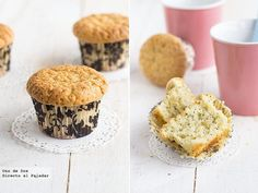 Receta de muffins de limón y semillas de amapola.Receta con fotos del paso a paso y presentación.Trucos y consejos de elaboración.Recetas de...