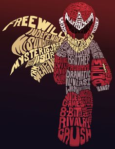 Protoman, but made out of words.