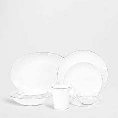 silver edge Dinnerware - Tableware | Zara Home United States