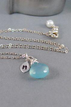 Aqua BlueSilver NecklaceBlue by ValleyGirlDesigns on Etsy, $33.00