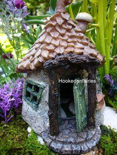 Miniature Gnomes Get Away Door Opens Fairy Faery Hobbit Garden | eBay