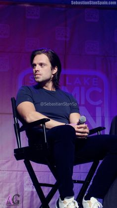 Sebastian Stan Spain// the hair, the jaw line, the arms... Ace... He's perfect