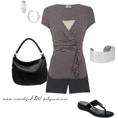 Black & white, created by mandys120 on Polyvore