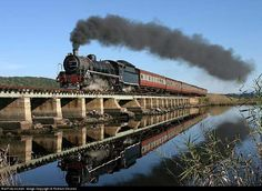 Net Photo: 1412 South African Railways Steam at George, South Africa by Richard Stevens Railroad Photography, Landscape Photography, Train Tattoo, South African Railways, Grey Wallpaper Iphone, Train Journey, Alaska Travel, Steam Engine, Steam Locomotive