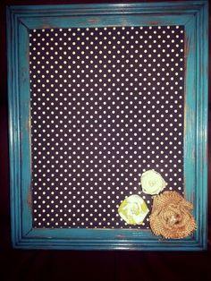 Distressed framed bulletin board